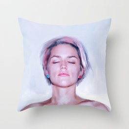 The Young Pixie Girl Throw Pillow