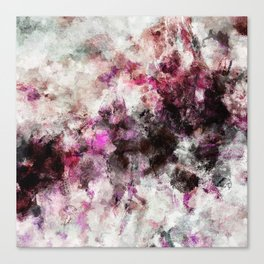 Modern Abstract Painting in Purple and Pink Tones Canvas Print