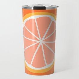 Grapefruit Slice Travel Mug