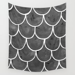 Grey chalk roof tiles Wall Tapestry