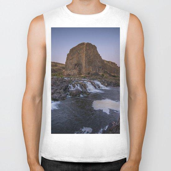 Palouse Falls - Waterfall Sunset Biker Tank
