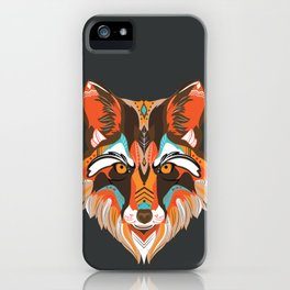 Cool native american wolf iPhone Case