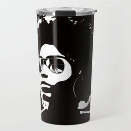 Cool Afro on Black Travel Mug