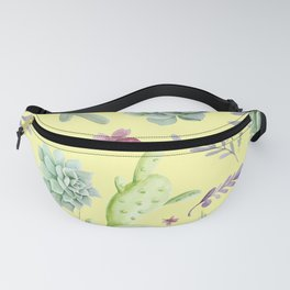 Cactus Watercolor Pattern 15 Fanny Pack