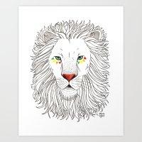 oana befort Art Prints featuring LION by Oana Befort