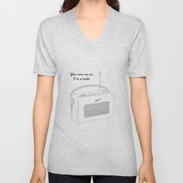 Joni Mitchell You Turn Me On I'm A Radio Unisex V-Neck