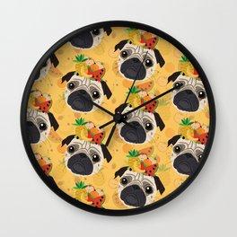Pug Tropicana Wall Clock