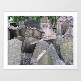 Graveyard in Prague Art Print
