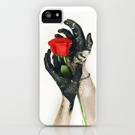 roses hands iPhone Case