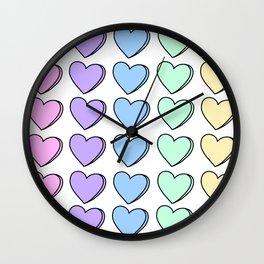 Candy Hearts Wall Clock