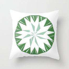 Emerals Throw Pillow
