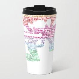 MonsterCat Typography Metal Travel Mug