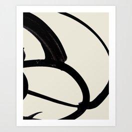 Mono Brush 1 Art Print