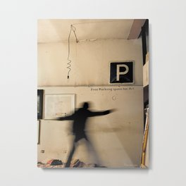 Free Parking Space for Art Metal Print