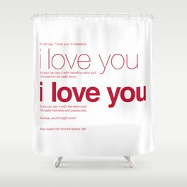 Massimo Vignelli dijo Shower Curtain