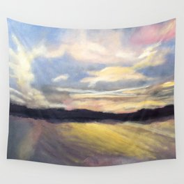 Summer Sunset Over Lake Winnipesaukee in New Hampshire Wall Tapestry