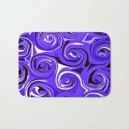 Bright Blue Violet Swirls Bath Mat