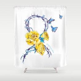 Ribbon | Endometriosis awareness Shower Curtain