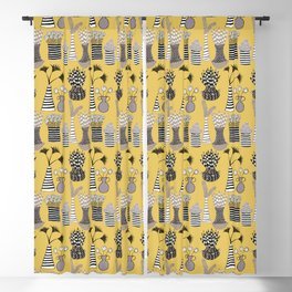 Vases and Stripes Blackout Curtain