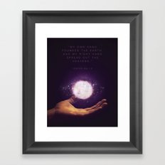 Isaiah 48:13 Framed Art Print