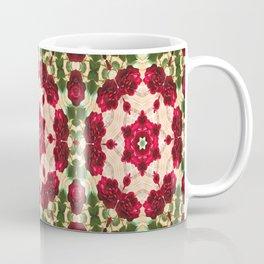 Old Red Rose Kaleidoscope 4 Coffee Mug