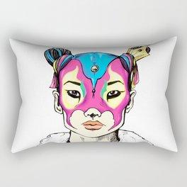 Asian Superheroine Rectangular Pillow