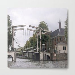 Amsterdam Rising Bridge Metal Print
