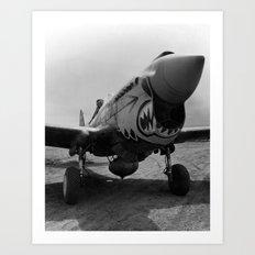 Vintage Fighter Art Print