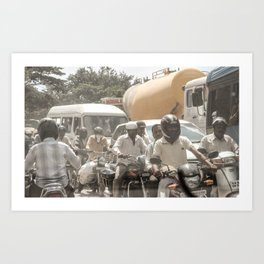 Bangalore Traffic Jam Art Print