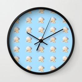 Jellyfish on Blue | Nadia Bonello Wall Clock