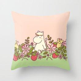 Pradera de Frutilla Throw Pillow