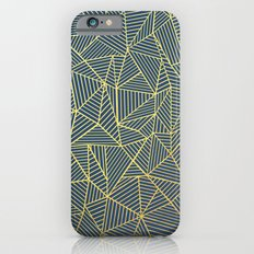 Ab Lines Gold and Navy Slim Case iPhone 6s
