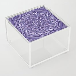 Great Purple Mandala Acrylic Box