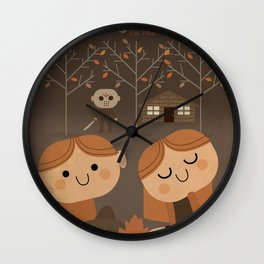 welcome to camp crystal lake Wall Clock