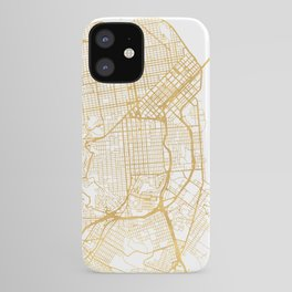 SAN FRANCISCO CALIFORNIA CITY STREET MAP ART iPhone Case