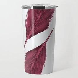Twin Feathers - bordeux Travel Mug