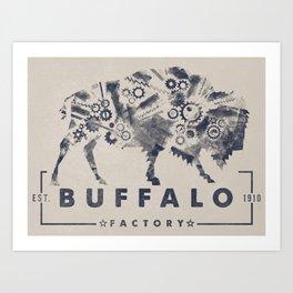BUFFALO FACTORY GEARS Art Print