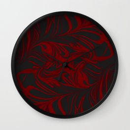 Original Marble Texture - Black Fire Wall Clock