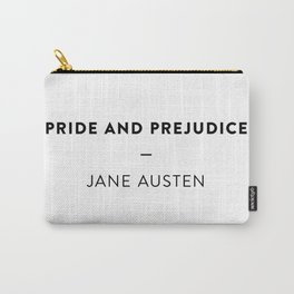 Pride and Prejudice  —  Jane Austen Carry-All Pouch