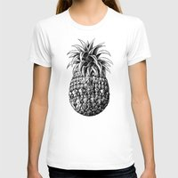 ornate T-shirts featuring Ornate Pineapple by BIOWORKZ