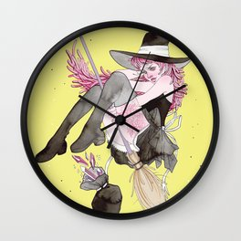 witch and gems Wall Clock