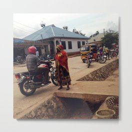 #277 The woman and the driver / Streets of Tanzania Metal Print