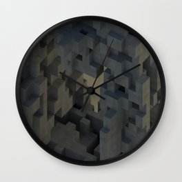 Abstract Concrete III Wall Clock