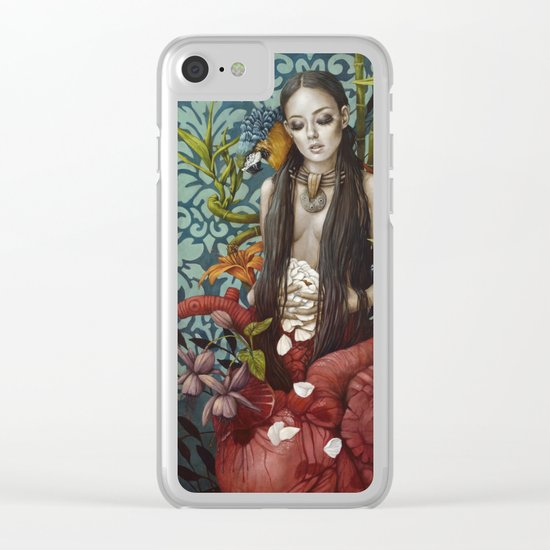 Recueillement Clear iPhone Case