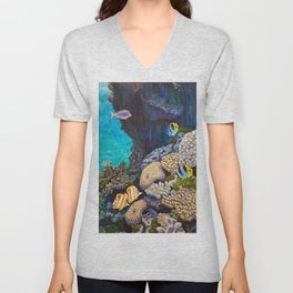 The Gathering - Coral Reef Unisex V-Neck