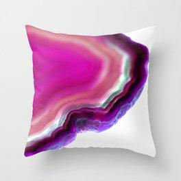 Dreamy agate edge Throw Pillow