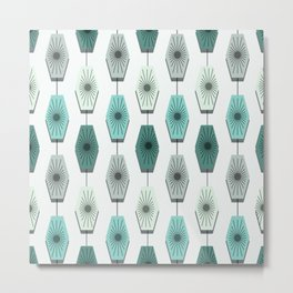 Mid Century Modern Pattern Metal Print