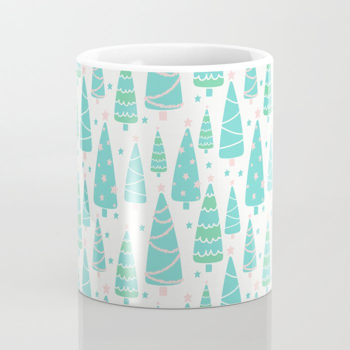 Pastel Christmas Tree Forest Coffee Mug