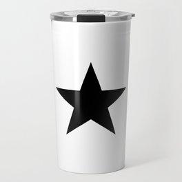 Black star t shirts cotton jersey clothing Travel Mug