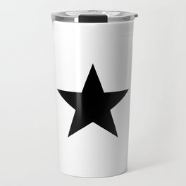 black star digital art logo image design zollione store Travel Mug